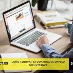 renovar demanda de empleo por internet
