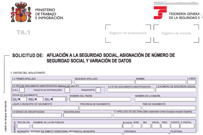 asignacion de numero de seguridad social y afiliación