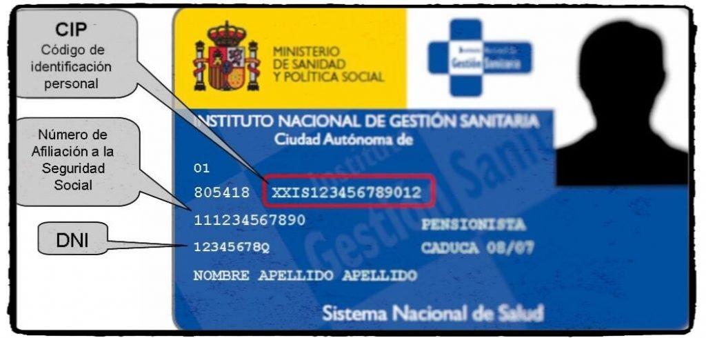 numero afiliacion seguridad social en nuestra tarjeta sanitaria