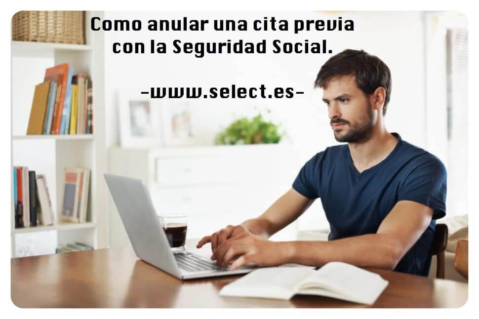 Anular cita con la Seguridad Social