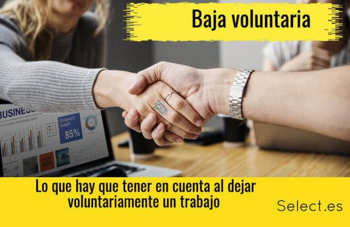 la baja voluntaria y modelos de carta