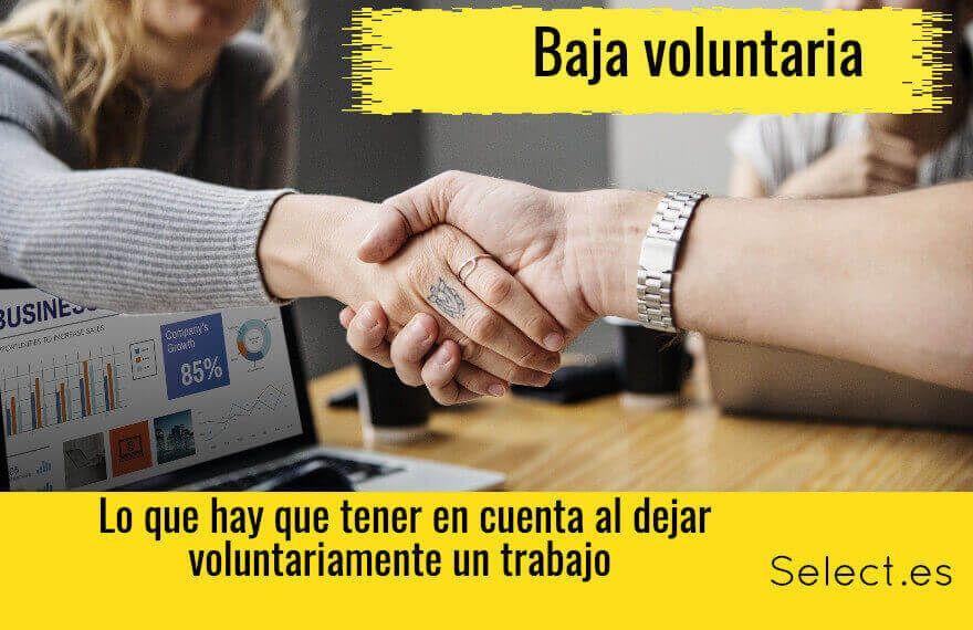 Darse de baja voluntaria en el trabajo. Todo lo que debes saber