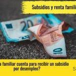 los subsidios que tienen en cuenta renta familiar
