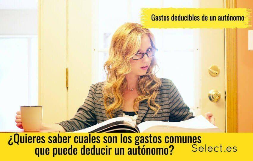 Gastos deducibles para un trabajador autonomo