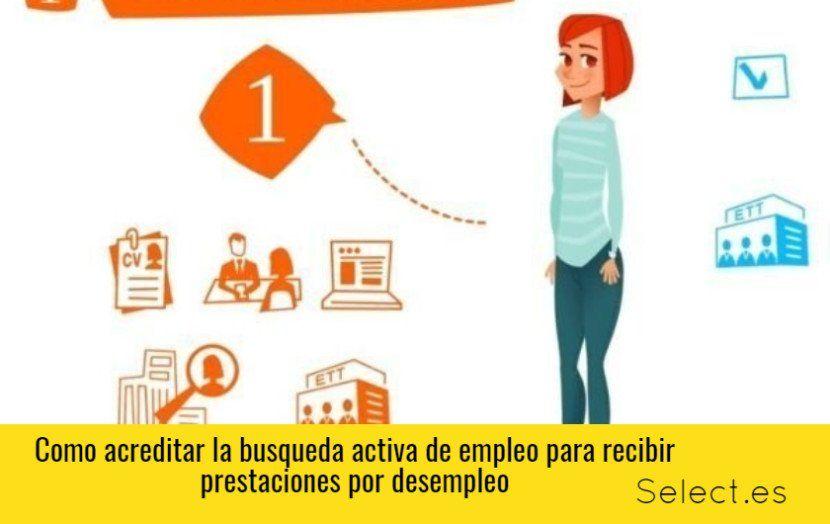Acreditar la búsqueda activa de empleo para poder pedir prestaciones por desempleo